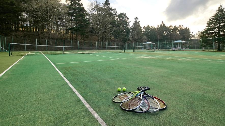 ☆【付帯施設】テニスコート/施設敷地内にあるテニスコートで気分リフレッシュ!