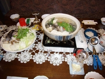 タラ鍋料理