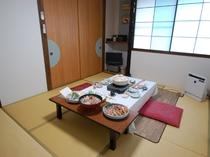 洗面付き和室のお部屋の一例(個室のお食事処としてご利用いただくケースも)