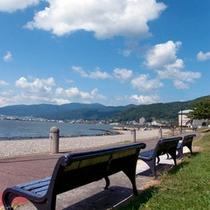 ■諏訪湖のベンチ