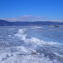 ■諏訪湖御神渡り(おみわたり)