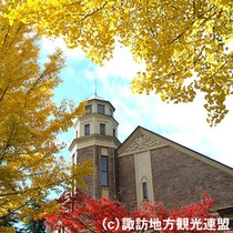 ■国の重要文化財指定の「片倉館」(当館より徒歩約10分)