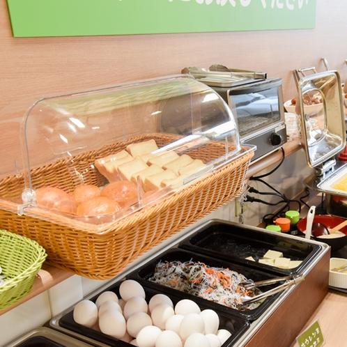 朝食バイキング/パンや卵、ウインナーなど洋食派にも嬉しいメニューの数々