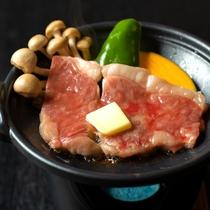 上州牛の霜降りステーキ付プランは当館一番人気!
