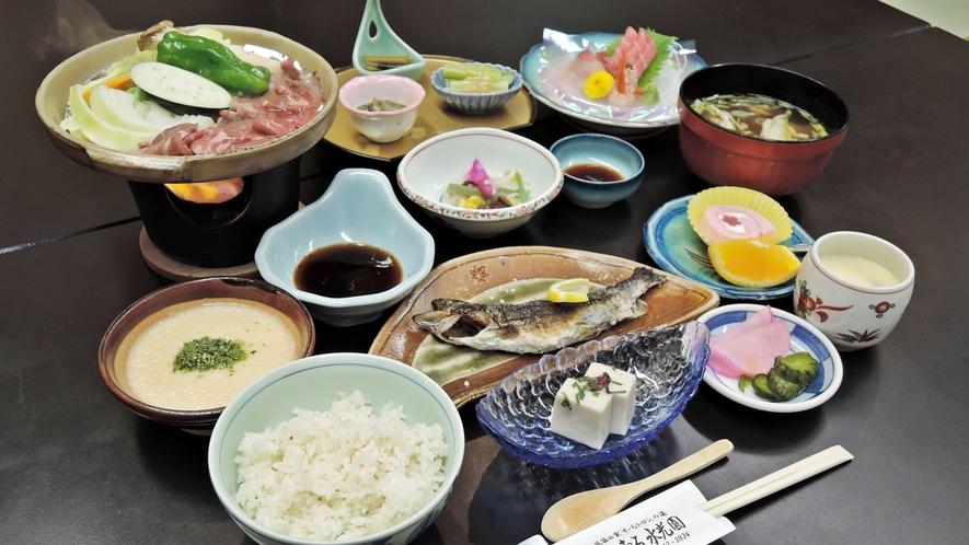 *【夕食全体例】素材本来の味を大切にし、丁寧に仕上げた料理をお楽しみ下さい。