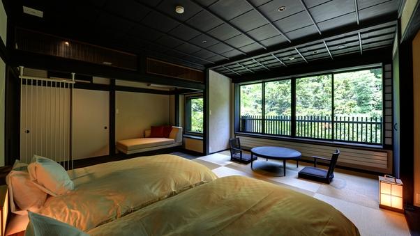 【鶴の間】天龍川に近い場所<38平米>渓谷view温泉半露天