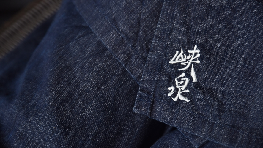 *【デニムの作務衣】1893年創業、広島県福山市のカイハラデニムを使用。