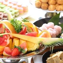 ■【夕食バイキング】最後はやっぱりデザートで。今日はいっぱい食べちゃいましょう♪