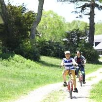 ■【夏】レンタルバイクもあります。緑の中を走ると気持ち良い~♪
