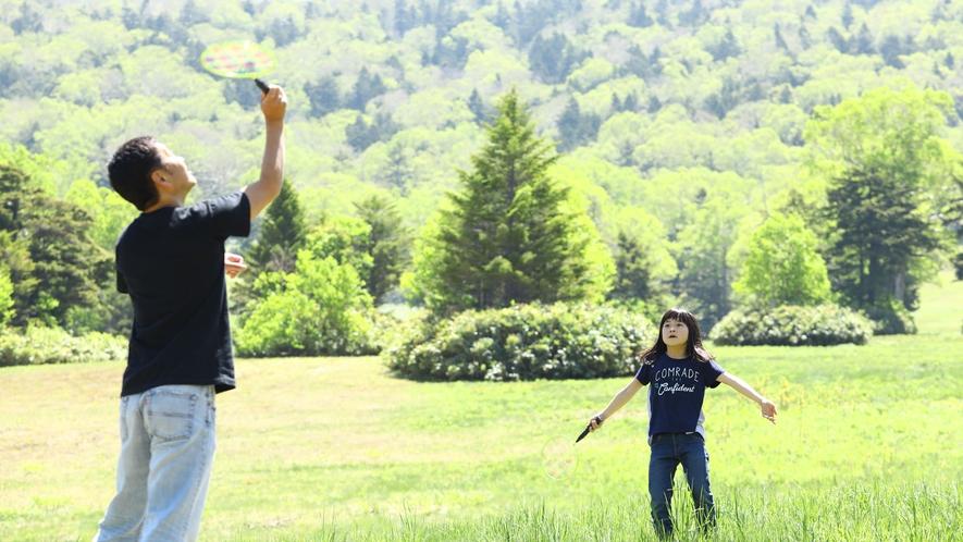 【夏】大自然の中でバドミントン♪