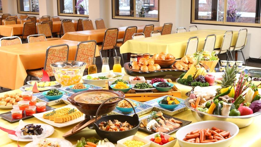 【朝食バイキング】朝から盛り沢山!お腹いっぱい食べて今日も元気