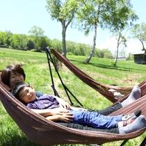 ■【夏】親子でゆらゆら。子供に人気のハンモック。