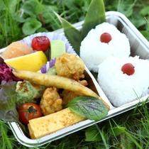 ■【お弁当】トレッキングプランのお弁当。ボリュームたっぷり!