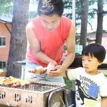 ■【夏・BBQ】小さいお子様も興味津々