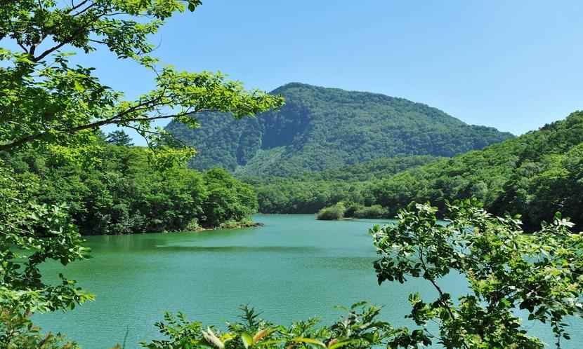 【夏】琵琶池。志賀高原で2番目に大きい池です。