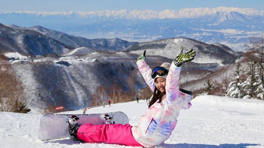 【冬】最高の景色の中でテンションも上がります!