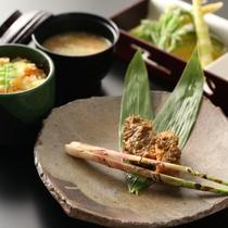 ■【6月・セットメニュー】志賀高原のネマガリダケは絶品です。