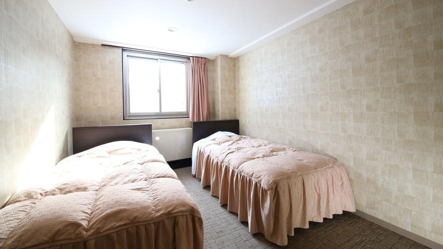 【かもしか館■洋室ツイン】フランスベッドでごゆっくり