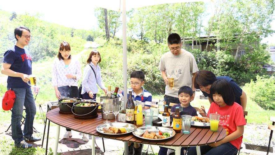 【夏・BBQ】お友達家族でも。盛り上がります!