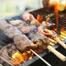 ■【夏・BBQ】大自然の中で食べるBBQは格別。