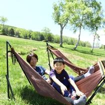 ■【夏】ハンモックもご利用いただけます。緑の中でのんびり♪