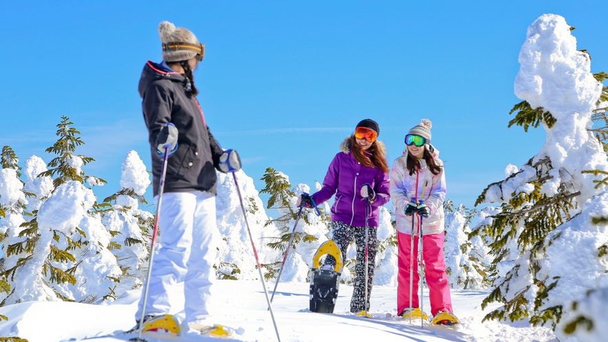 【冬】標高が高く、本州では群を抜いた雪質の志賀高原。思いっきりスキーを楽しんじゃおう♪
