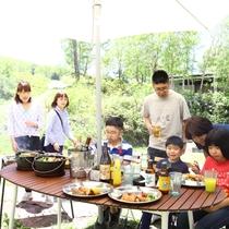 ■【夏・BBQ】お友達家族でも。盛り上がります!