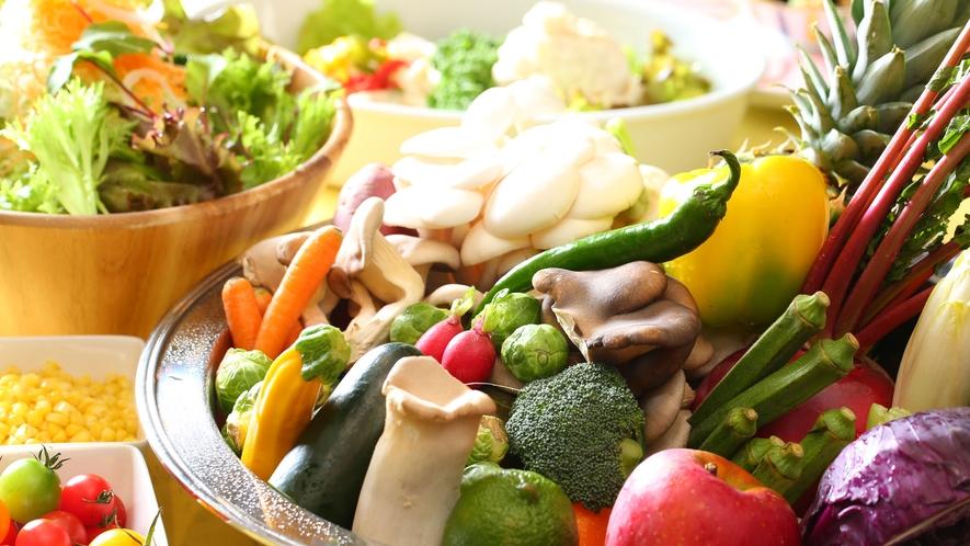 【朝食バイキング】野菜もいっぱい!もりもりどうぞ