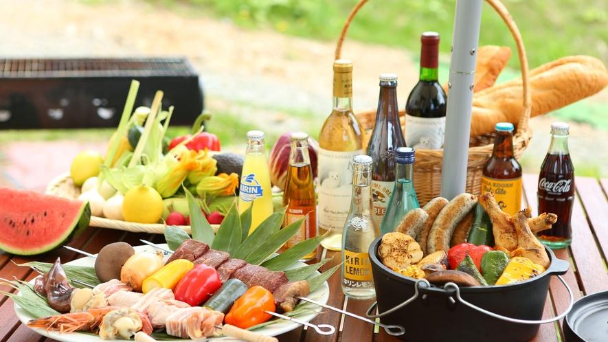 【夏・BBQ】夏のBBQ会場は1日10組限定でご利用いただけます。