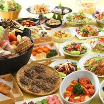 ■【夕食バイキング】和洋中盛り込んだバイキング。お腹いっぱいお召し上がりください