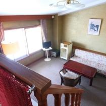 ■【らいちょう館■最上階メゾネット】ベッドルームからの眺め