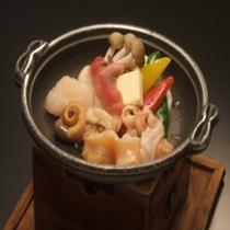 貝寄せ陶板焼き