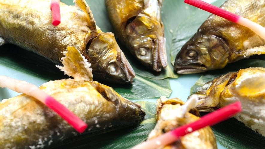 別注料理一例:鮎の塩焼き