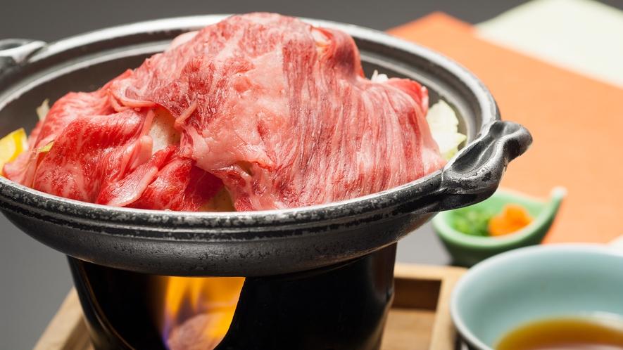 夕食一例:福島牛の焼きしゃぶ