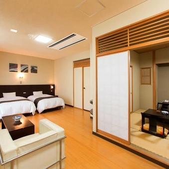 【別邸楓】和洋室/和室+ツインベッドルーム (禁煙)