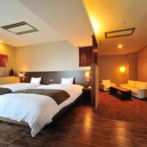 【別邸楓】スイート/洋室54平米+ツインベッドルーム