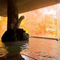 秋の男湯大浴場