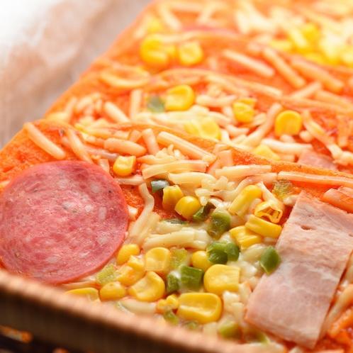 朝食一例(ピザトースト)