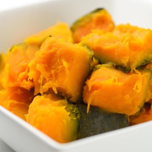朝食一例(かぼちゃの煮物)