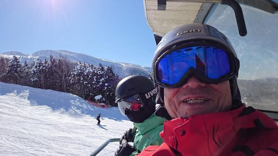 *スキーリフトからの一枚♪オーナーはプロのスキーインストラクター!