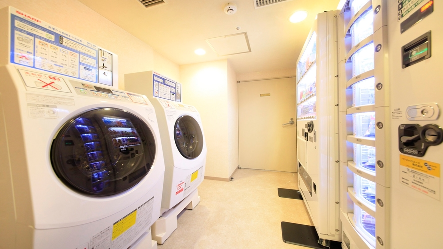 3Fと7Fにはランドリーをご用意しております。洗剤は自動投入なので長期滞在も安心です♪