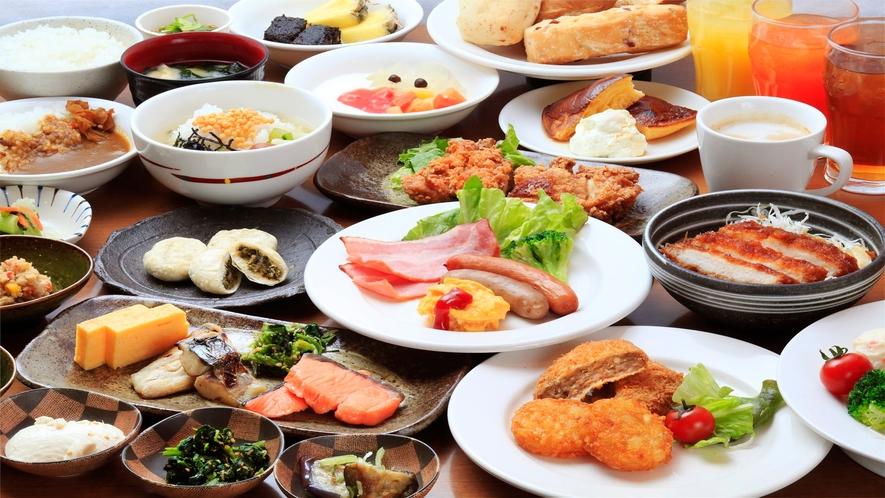 和食・洋食とバラエティー豊富なメニューが食べ放題!!