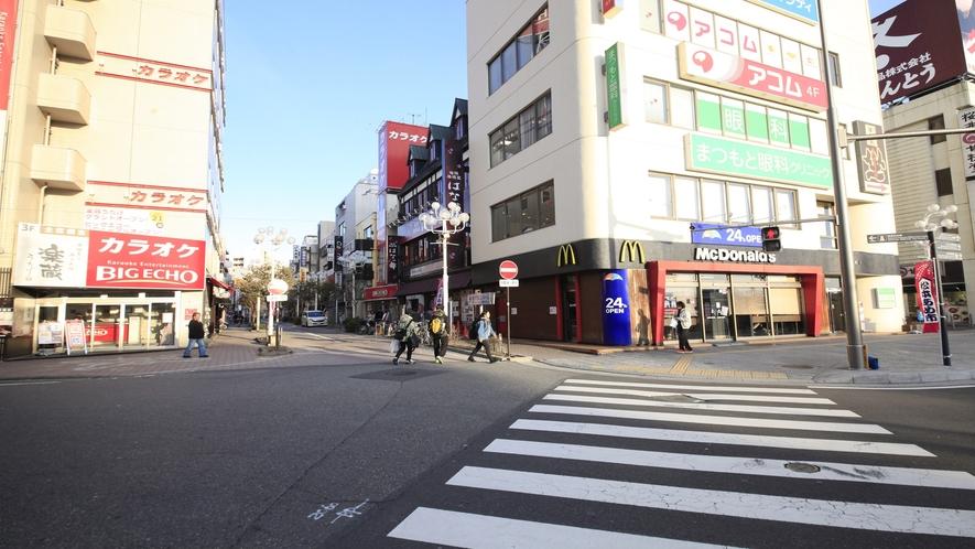 【アクセス】松本駅より正面左手にマクドナルド・ビッグエコーがございます。