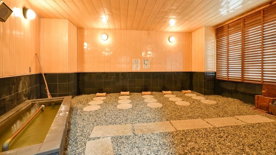 *【岩盤浴】天然ラジウム岩盤浴は、玉川温石を利用しております。