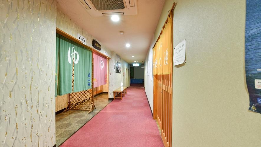 *【大浴場入口】岩盤浴と大浴場は向かいにございます。