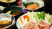 ■【夕食一例】会津美豚しゃぶしゃぶ②