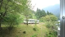 ■トレインビュー!お部屋から会津鉄道を眺められる
