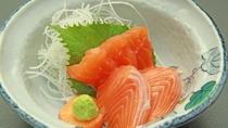 ■【夕食一例単品】新鮮なヒメマスの刺身-臭みクセがなく味のバランス◎上品な味です。