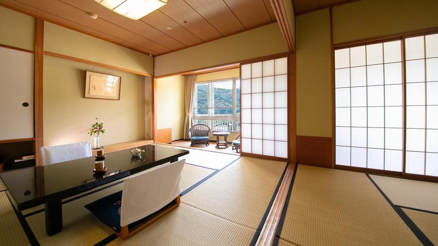 【錦帯橋側◆和室二間 8+8畳】