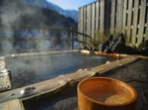 匠の湯の檜露天風呂